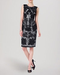 Phase Eight Dress Dotty Embroidered Navy And White