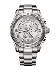 Victorinox Mens Chronograph Classic Xls Watch Silver