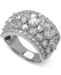 Arabella Swarovski Zirconia Pave Ring In Sterling Silver Clear