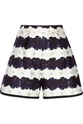 Mother Of Pearl Addison Floral Print Cotton And Silk Blend Shorts Blue