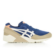 Asics Men's Gel Sight Suede Trainers Indigo Blue Cream
