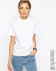 Asos Tall T Shirt With High Neck White