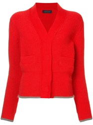 Eudon Choi Knitted Sheila Cardigan Red