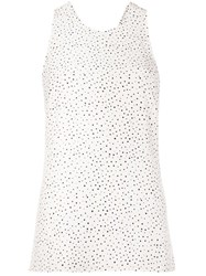 Grey Jason Wu Polka Dot Tank Top White