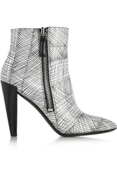 Kenzo Printed Leather Ankle Boots