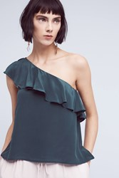 Anthropologie Silk One Shoulder Blouse Holly