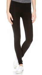 Three Dots Seamless Jersey Leggings Black