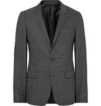 Wooyoungmi Grey Slim Fit Slub Wool Blazer Gray