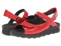 Wolky Pichu Red Leather Women's Sandals