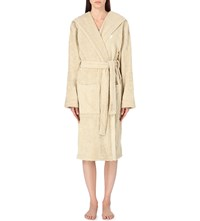 Ralph Lauren Home Logo Embroidered Cotton Dressing Gown Dune
