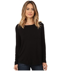 Cj By Cookie Johnson Long Sleeve Pocket Tee Black Women's Long Sleeve Pullover