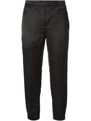Thom Browne Cropped Slim Fit Trousers Black