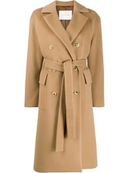 Mackintosh Laurencekirk Beige Wool And Cashmere Double Breasted Coat 60