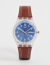 Swatch Ge709 Watch Brown