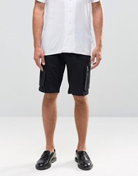 Asos Skinny Shorts With Cargo Pockets In Black Black