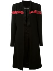 Jean Louis Scherrer Vintage Sequin And Bead Embellished Coat Black