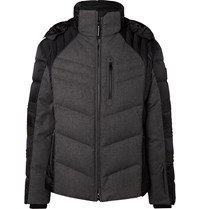 Bogner Bruce D Quilted Panelled Virgin Wool Blend And Shell Down Ski Jacket Gray