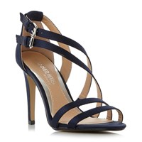 Head Over Heels Mulin Assymetric Strap Sandals Navy