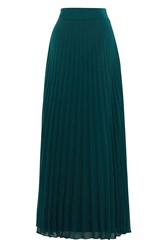 Coast Imi Pleated Maxi Skirt Forest