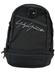 Yohji Yamamoto Signature Print Backpack Men Nylon One Size Black
