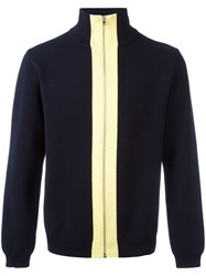 Marni Zipped Turtleneck Jumper Blue