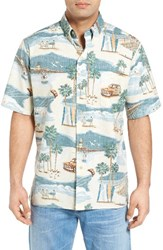 Reyn Spooner Men's Coastal Town Classic Fit Sport Shirt