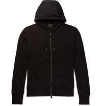 Tom Ford Cotton Silk And Cashmere Blend Jersey Hoodie Black