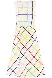 Mary Katrantzou Osmond Printed Stretch Crepe Dress White