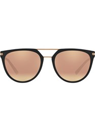 Bulgari Round Aviator Sunglasses Black