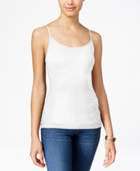 Planet Gold Juniors' Spaghetti Strap Camisole White