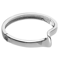 John Lewis Curved Detail Hinged Bangle Silver