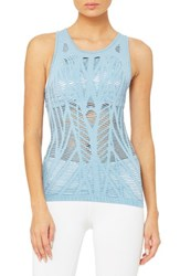 Alo Yoga Women's 'Vixen' Cutout Tank Saltwater Heather