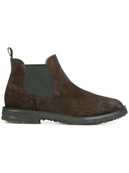 Buttero Contrast Panel Chelsea Boots Brown
