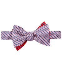 Brooks Brothers Men's Reversible Seersucker And Flags To Tie Bow Tie Assorted