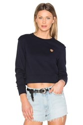 Mother X Miranda Kerr Open Your Heart Sweatshirt Navy
