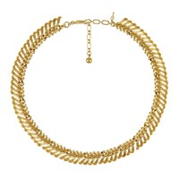 Eclectica Vintage 1950S Trifari Gold Plated Abstract Necklace Gold