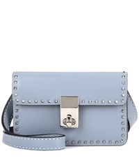 Valentino Garavani Mini Stud Leather Shoulder Bag Grey
