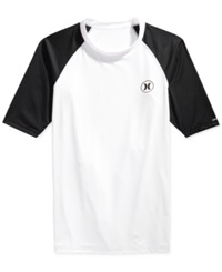 Hurley Short Sleeve Icon Rash Guard White