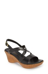 Athena Alexander Pomade Wedge Sandal Black Fabric