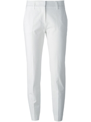 Piazza Sempione Cropped Tailored Trousers White