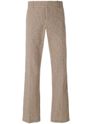 Faith Connexion Checked Logo Trousers Nude And Neutrals