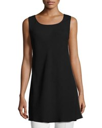 Lafayette 148 New York Letty Sleeveless Silk Blouse Black