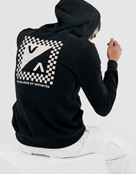 Rvca Checkmate Printed Hoody In Black