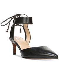 Franco Sarto Darby Pointed Toe Ankle Tie Pumps Women's Shoes Black