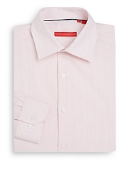 Report Collection Regular Fit Striped Cotton Dress Shirt Pink