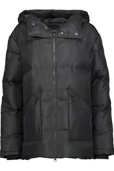 Y 3 Adidas Originals Quilted Shell Hooded Down Coat Black