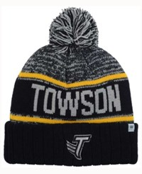 Top Of The World Towson University Tigers Acid Rain Pom Knit Hat Heather Gray Black Gold