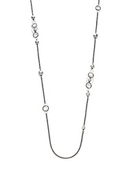 Majorica 8Mm 12Mm Grey Round Pearl Long Chain Necklace