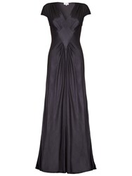 Ghost Iris Satin Dress Charcoal