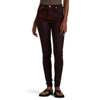 Rick Owens Waxed And Dyed Skinny Jeans Dark Red